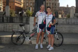 David e Michela col tandem a Roma