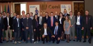 Foto di gruppo al CONI