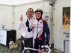 Marco Peruffo insieme a Simone Donadello alla partenza