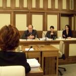 La Commissione Sanità con il presidente Sen. Tomassini