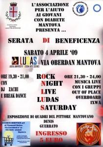 Locandina della serata al Ludas dell'AAGD di Mantova