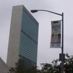 Il Palazzo di Vetro dello'ONU per la giornata mondiale del diabete 2007