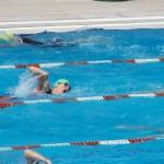 Il nuoto alla gara di triathlon sprint di Piacenza