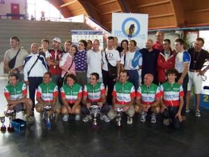 Il gruppo di Ciclismo&Diabete alla fine del campionato 2008