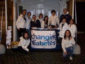 Il gruppo dello Youth Panel alla Giornata Mondiale del Diabete 2009 a Roma