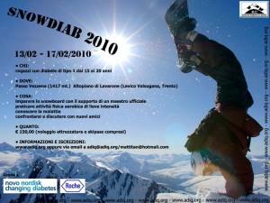 SnowDiab 2010 iniziativa di snowboard per ragazzi col diabete